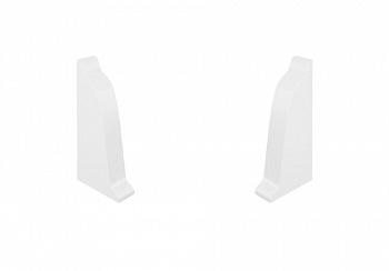 Комплект заглушек на плинтус закругленный Thermoplast белый