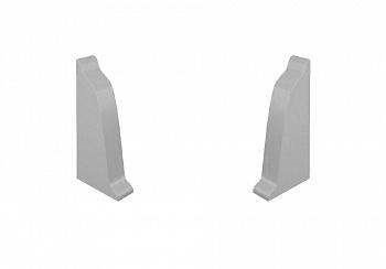 Комплект заглушек на плинтус закругленный Thermoplast серый