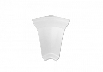 Угол внутренний на плинтус закругленный Thermoplast белый