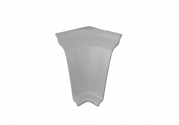 Угол внутренний на плинтус закругленный Thermoplast серый