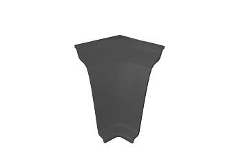 Угол внутренний на плинтус закругленный Thermoplast темно-серый