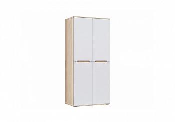 Шкаф 2-х створчатый Ким белый глянец / сонома