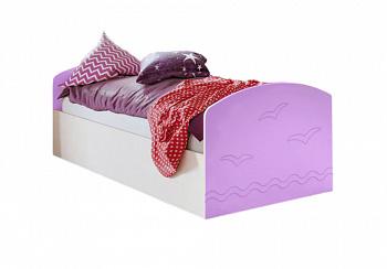 Кровать Юниор-2 сиреневый / дуб беленый