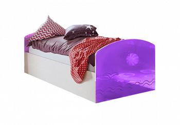Кровать Юниор-2 фиолетовый металлик / дуб беленый