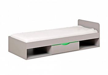 Кровать Неаполь серый / олива