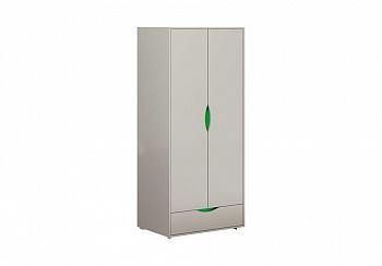 Шкаф 2-х створчатый Неаполь серый / олива