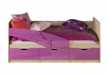 Кровать Дельфин фиолетовый металлик