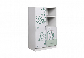 Шкаф комбинированный Вега Алфавит белый / мятный