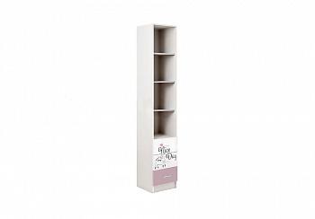 Стеллаж Вега FASHION-1 белый / розовый