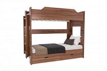 Двухъярусная кровать шимо темный