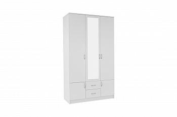 Шкаф 3-х створчатый Ронда белый