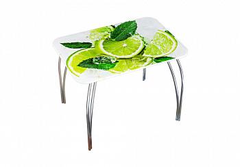 Стол обеденный фотопечать лайм