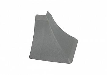 Угол внешний на плинтус треугольный Thermoplast серый