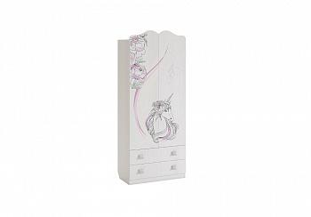 Шкаф двухстворчатый с ящиками Фэнтези