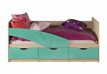 Кровать Дельфин бирюза