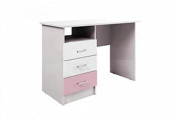 Стол письменный Вега FASHION-1 белый / розовый