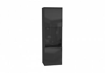 Шкаф навесной Point тип-22 черный глянец / черный матовый