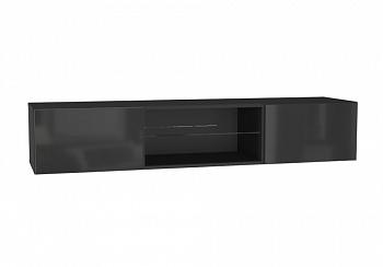 Шкаф навесной Point Тип-33 черный глянец / черный матовый
