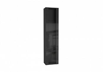 Шкаф навесной Point тип-41 черный глянец / черный матовый