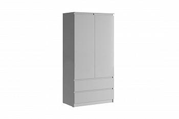 Шкаф 2-створчатый Челси белый глянец / белый