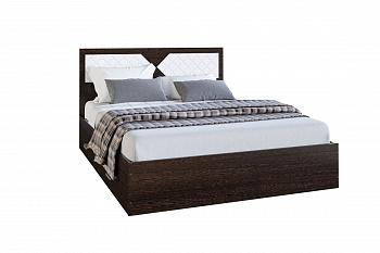 Кровать Николь венге / лиственница светлая