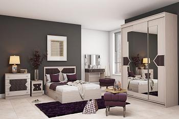 Модульная спальня Николь ясень шимо / лиственница темная