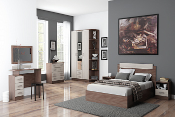 Модульная спальня Эко ясень шимо