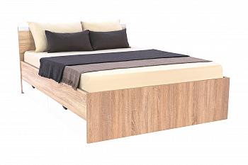 Кровать Вайт с ящиками дуб сонома / белый