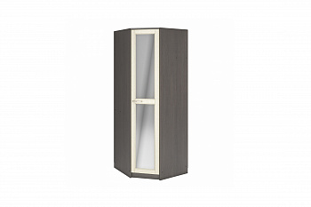 Шкаф угловой Лира с зеркалом венге цаво / дуб крем