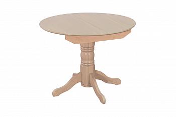 Стол раздвижной с круглой крышкой выбеленная береза