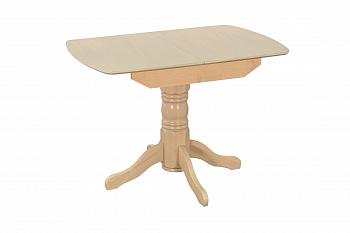 Стол обеденный раздвижной с овальной крышкой выбеленная береза