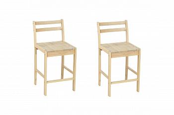 Комплект стульев барных выбеленная береза