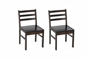 Комплект стульев с сиденьем массив венге