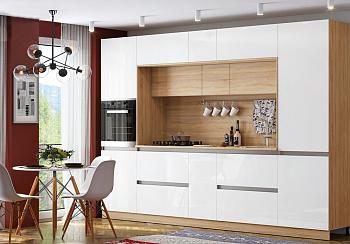 Модульная кухня Карина белый глянцевый / сонома
