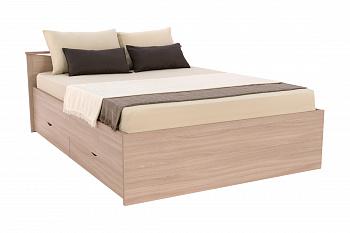 Кровать Мелисса с ящиками шимо светлый