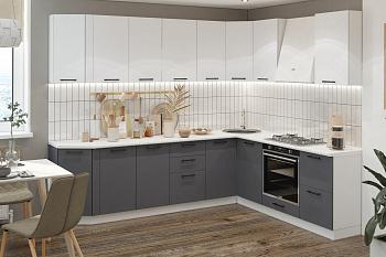 Кухня угловая 2.1 на 2.55 м Лофт