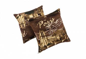 Комплект подушек коричневый Париж
