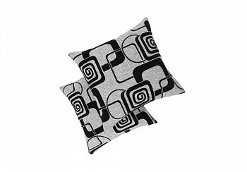 Комплект подушек серая рогожка квадраты