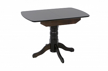 Стол обеденный раздвижной с овальной крышкой венге